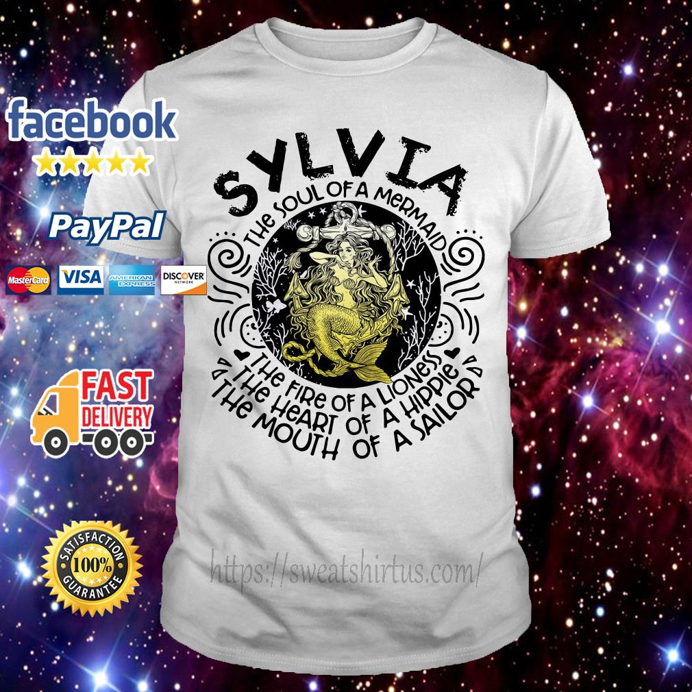 Sylvia girl the soul of a mermaid the fire of a lioness shirt
