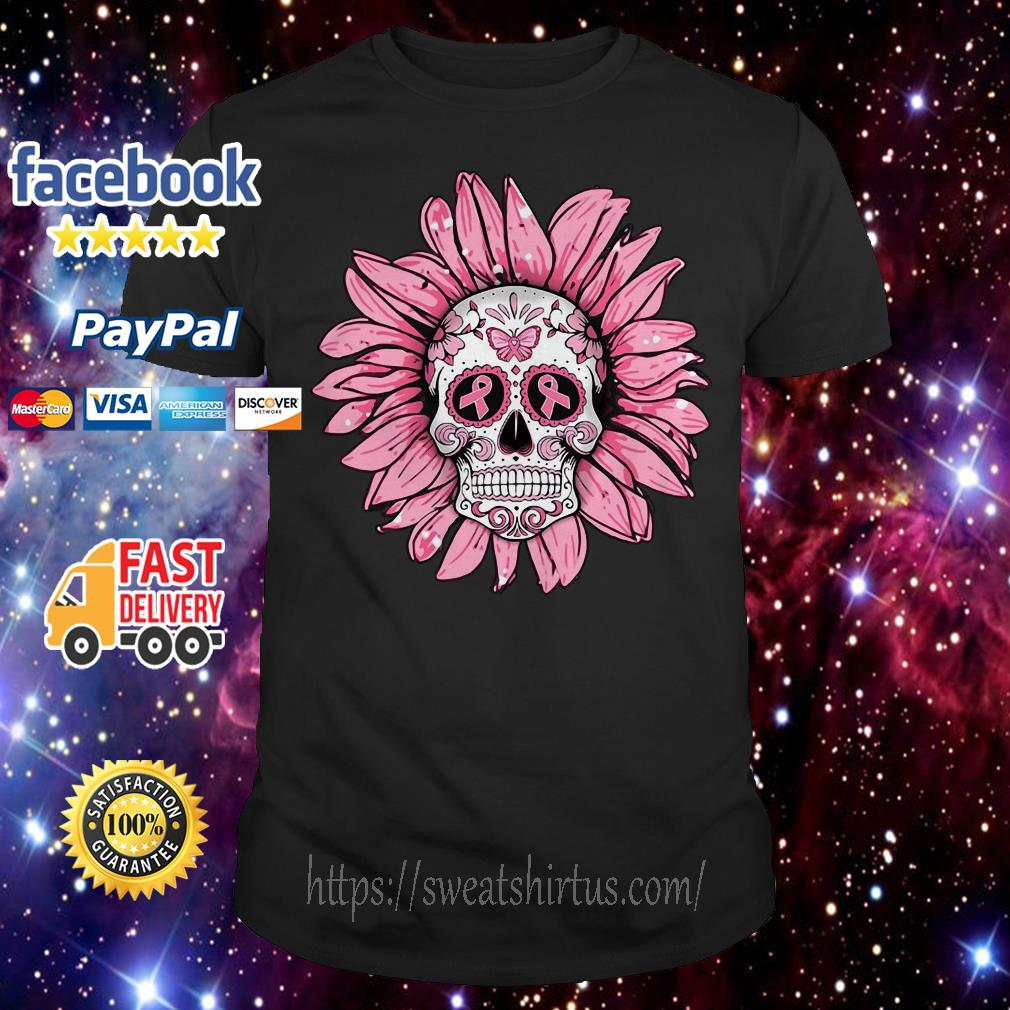 Tattoos Skull pink flower shirt