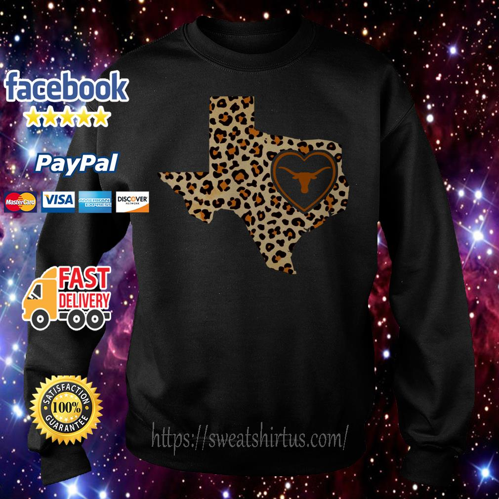 Texas Longhorn leopard state map Sweater