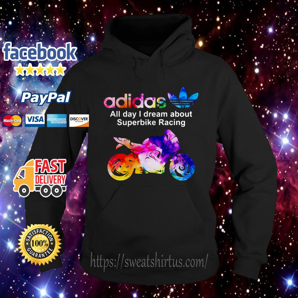 Adidas all Day I dream about Superbike Racing Hoodie
