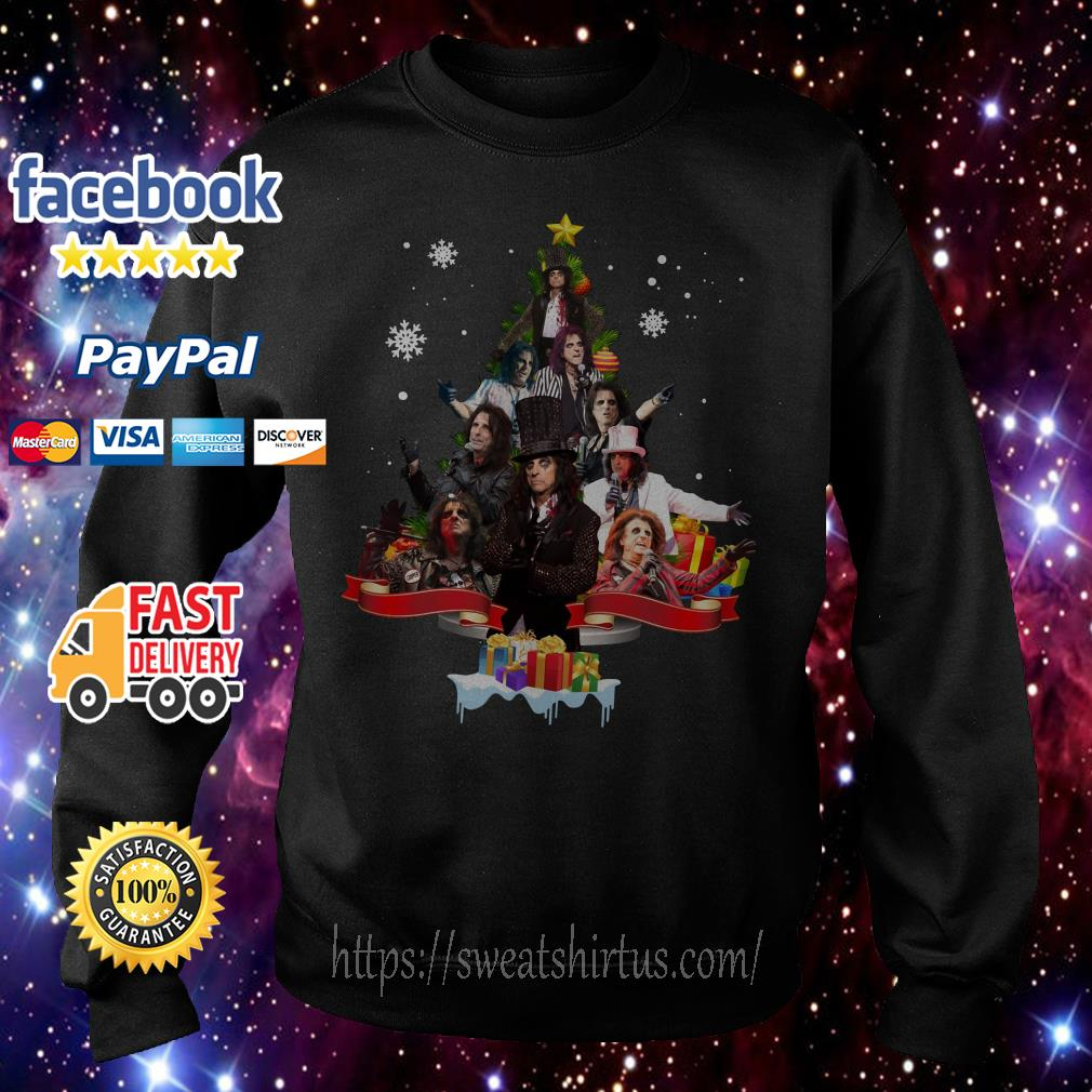 Alice Cooper Christmas tree shirt, sweater