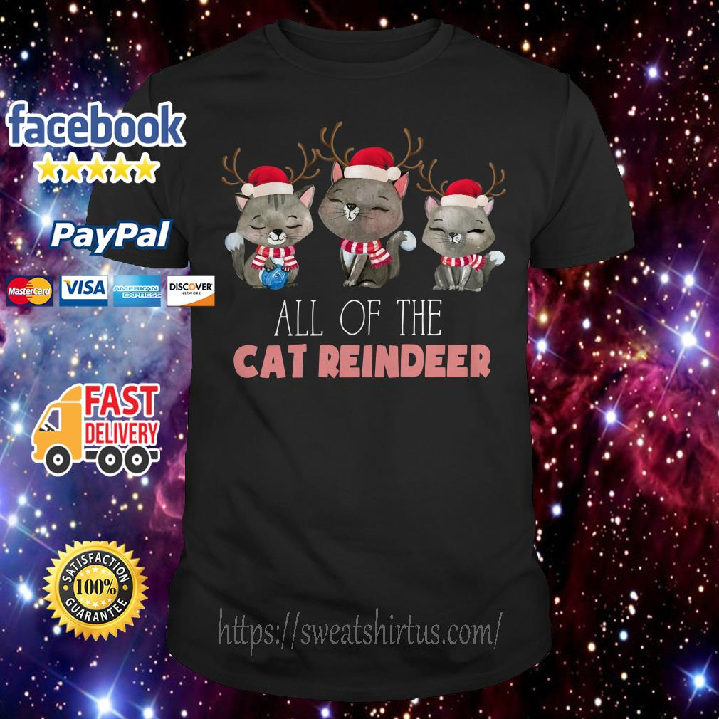 All of the Cat reindeer Christmas ugly sweat shirt