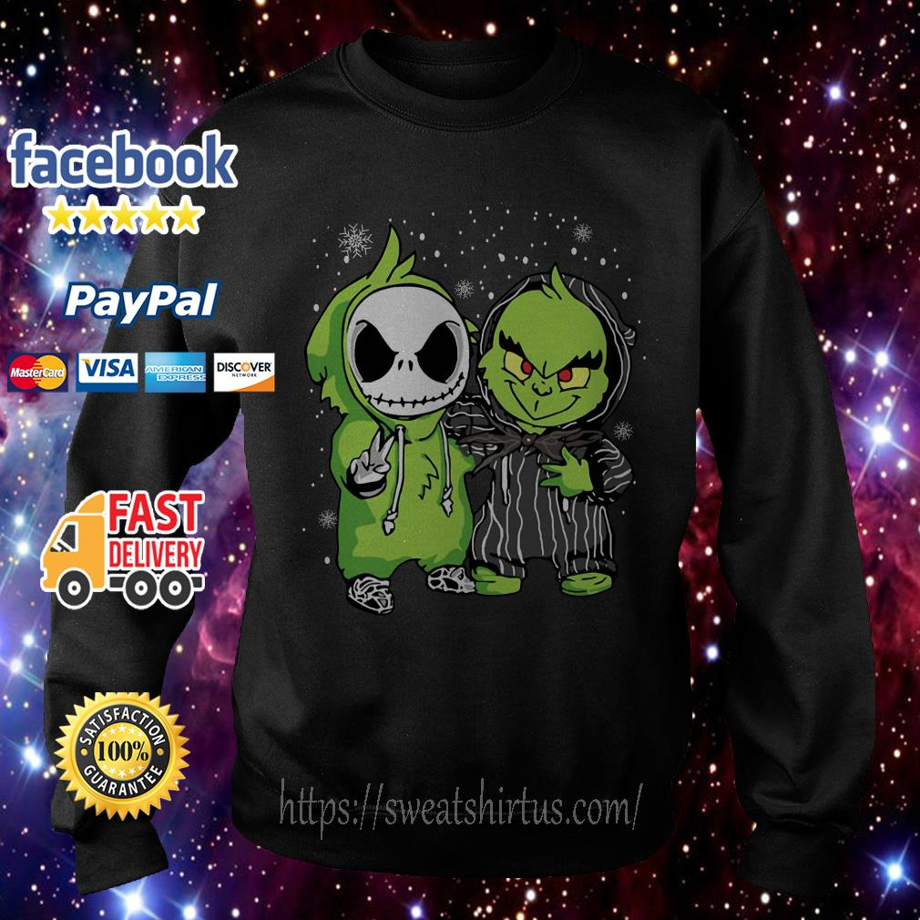 Baby Jack Skellington and Grinch Christmas shirt, sweater