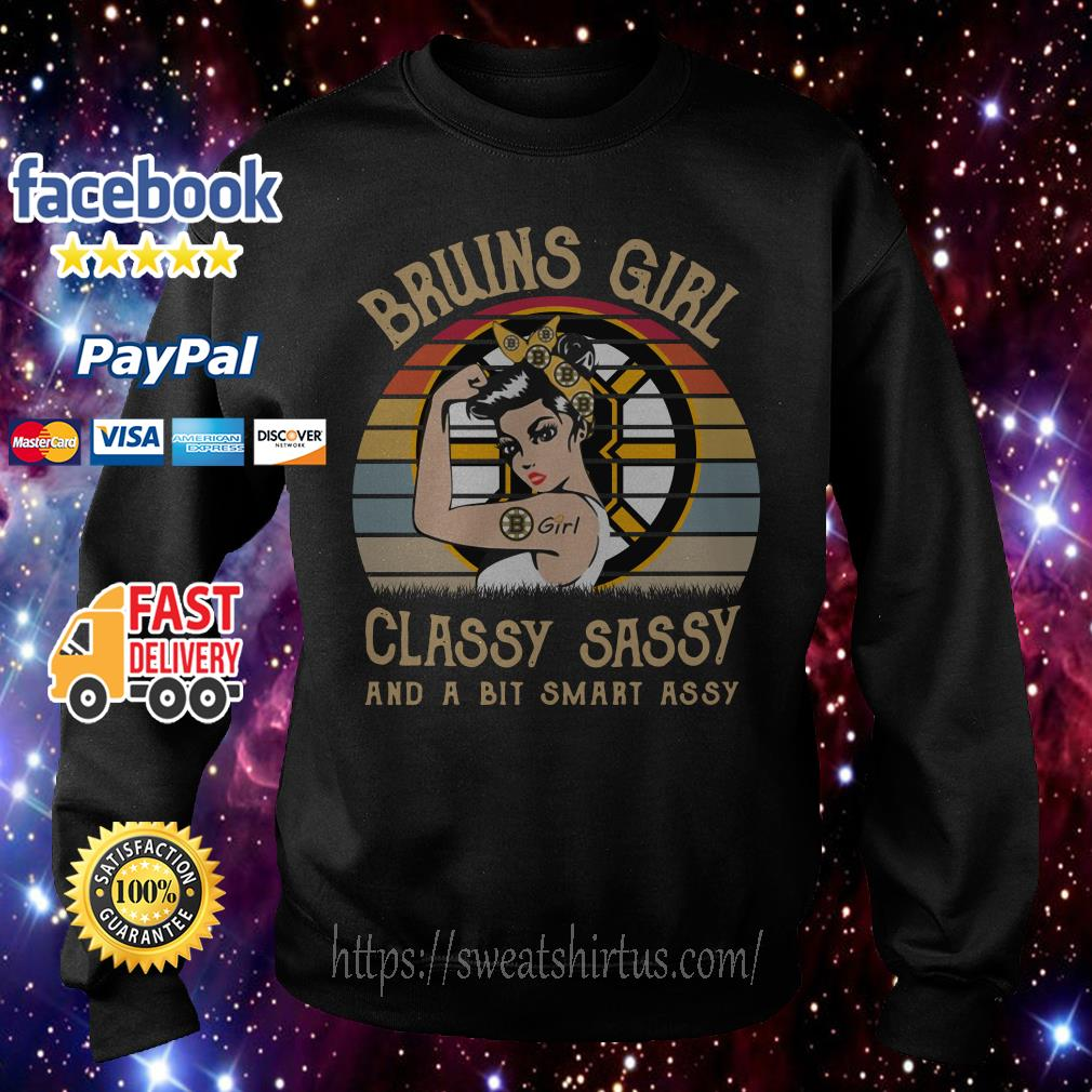 Boston Bruins girl classy sassy and a bit smart assy vintage Sweater