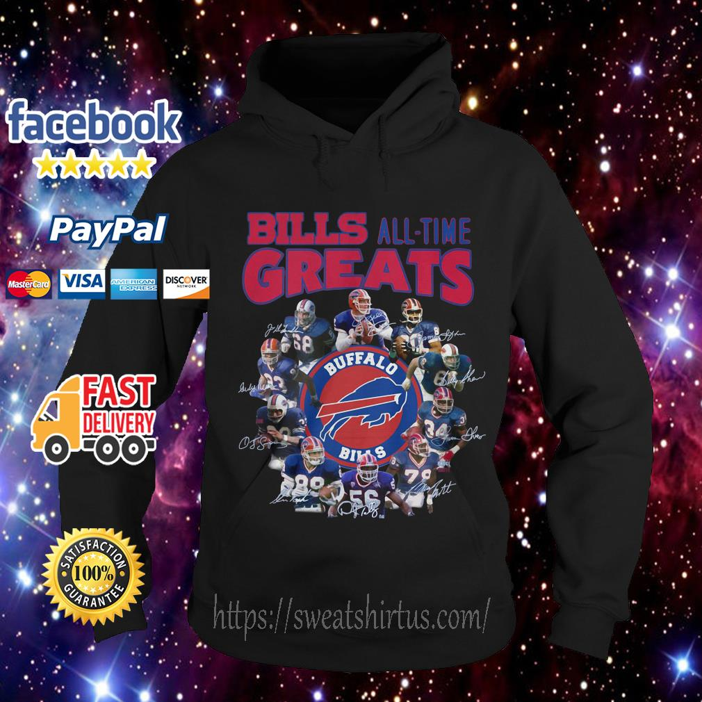 Buffalo Bills all time greats signatures Hoodie