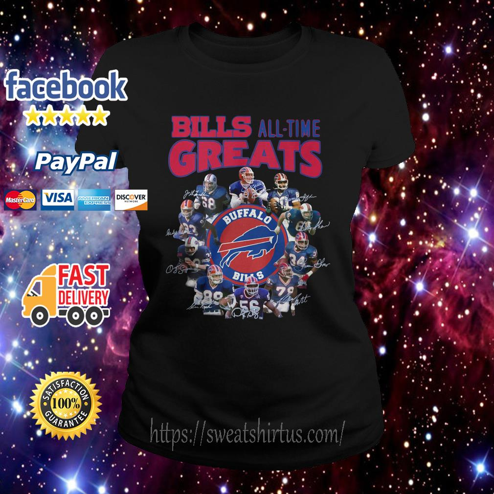 Buffalo Bills all time greats signatures Ladies Tee