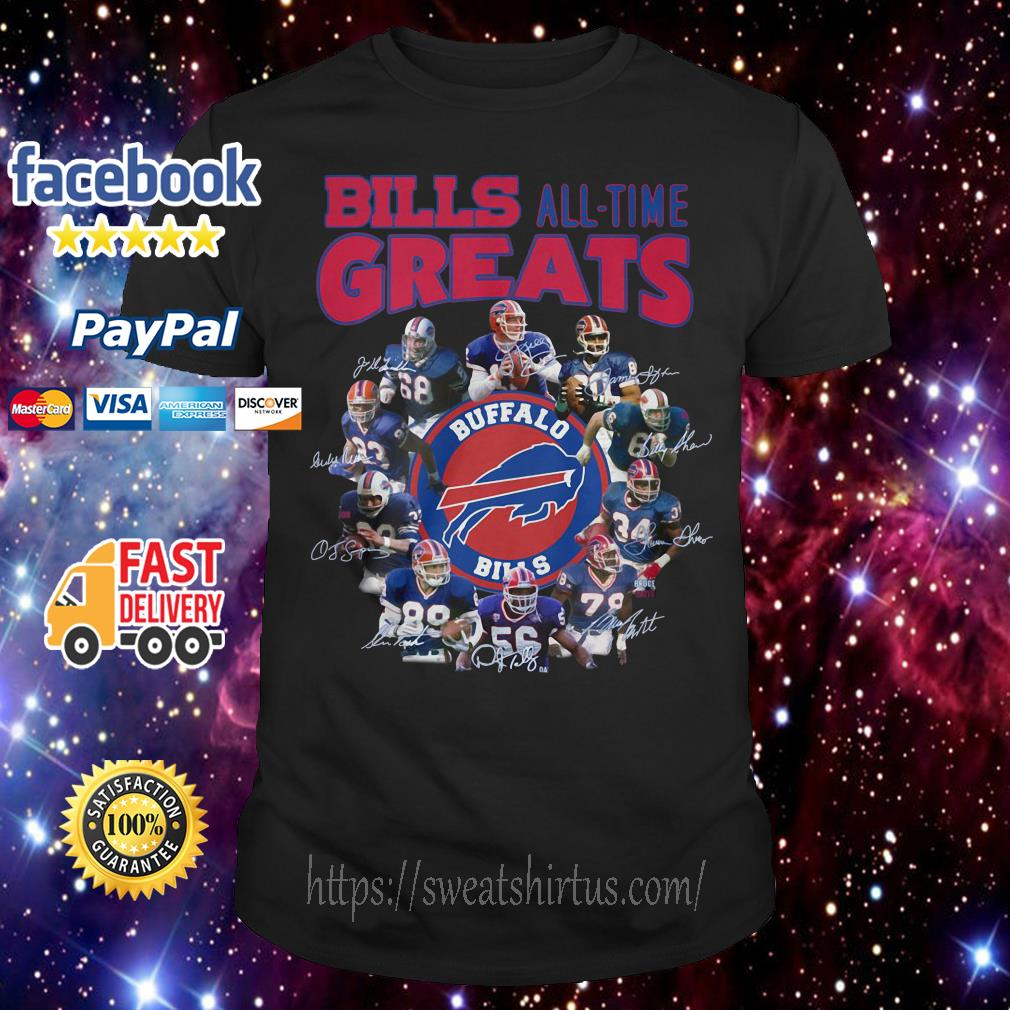 Buffalo Bills all time greats signatures shirt