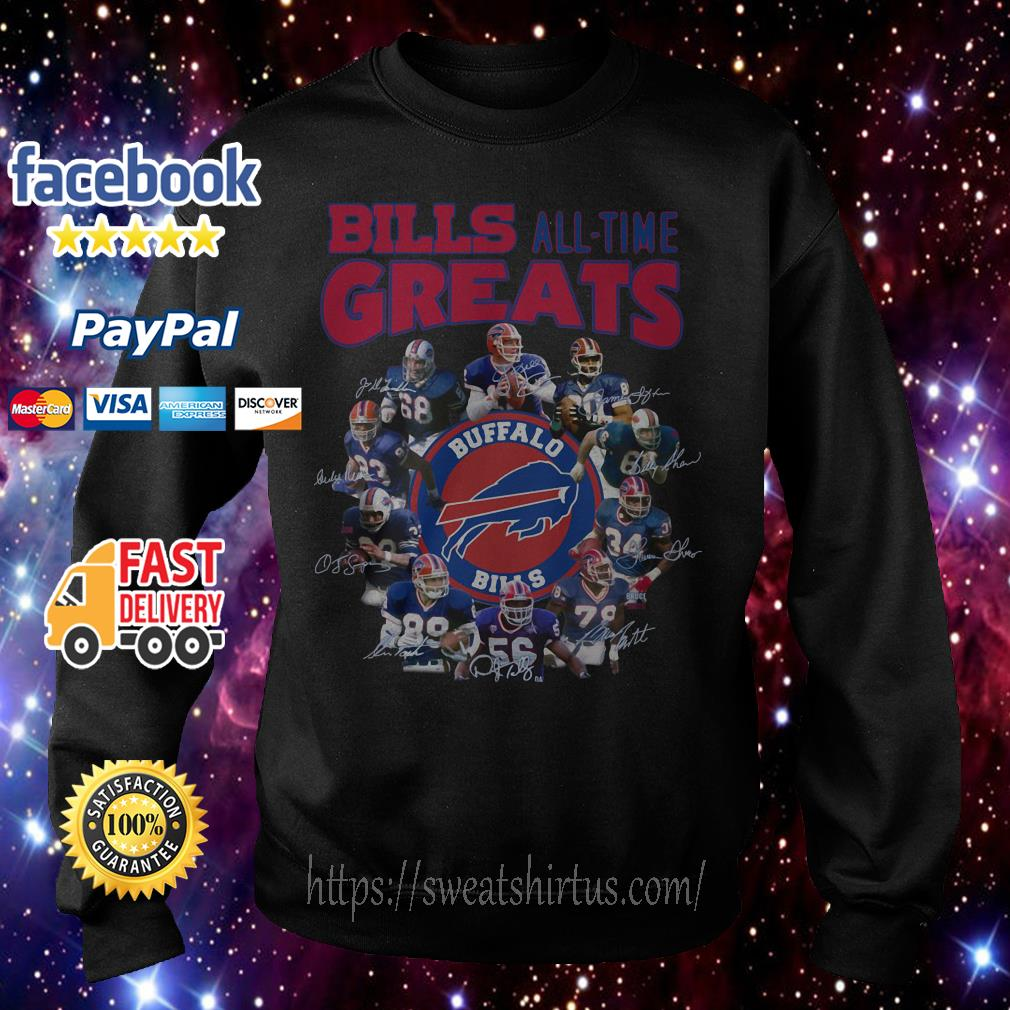 Buffalo Bills all time greats signatures Sweater