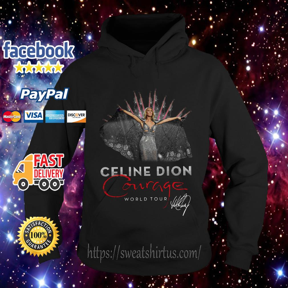 Celine Dion Courage World Tour signature Hoodie