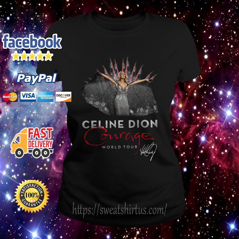 Celine Dion Courage World Tour signature Ladies Tee