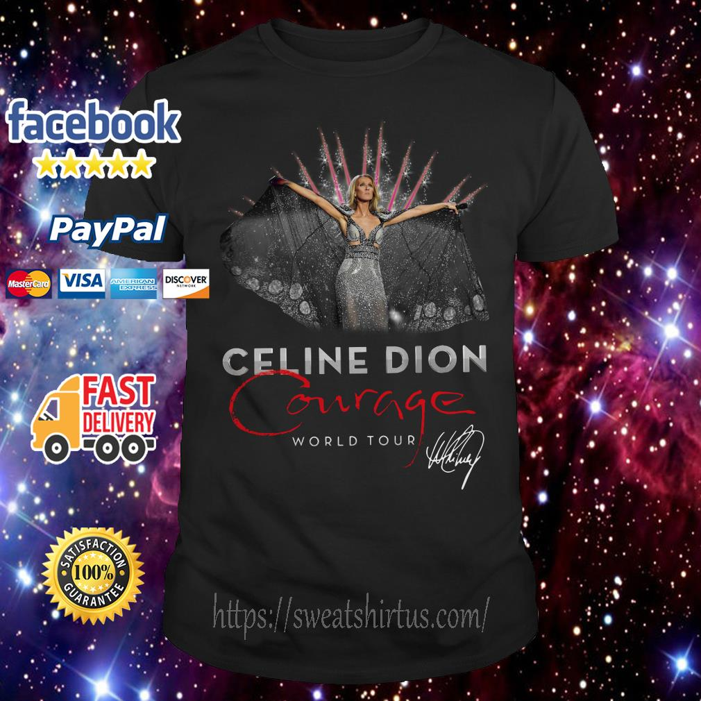 Celine Dion Courage World Tour signature shirt