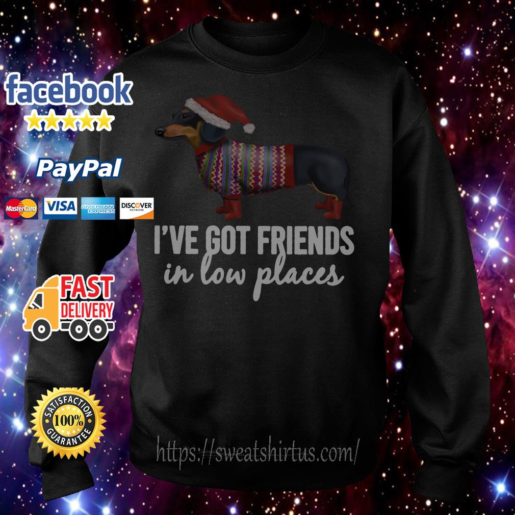Christmas Dachshund Santa I've Got Friends in low places Sweater