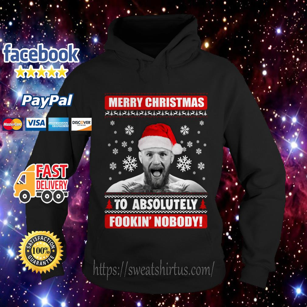 Conor McGregor Merry Christmas to absolutely fookin' nobody Hoodie