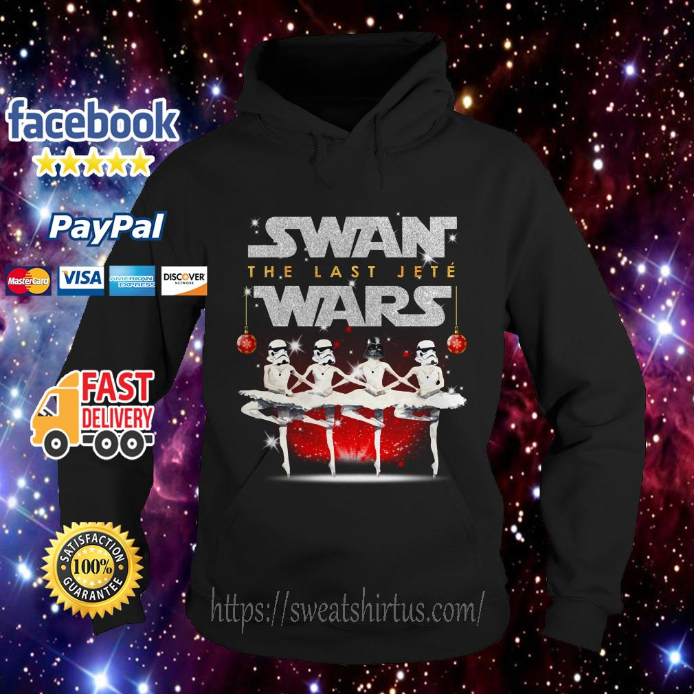 Darth Vader and Storm Pooper dancing Swan the last Jete Wars Hoodie