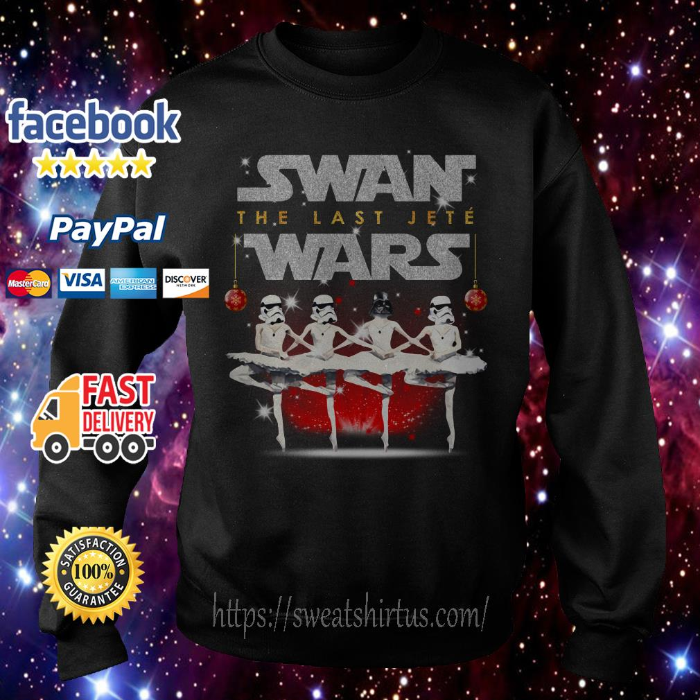 Darth Vader and Storm Pooper dancing Swan the last Jete Wars Sweater