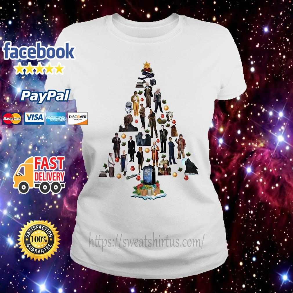 Doctor who Christmas tree  Ladies tee