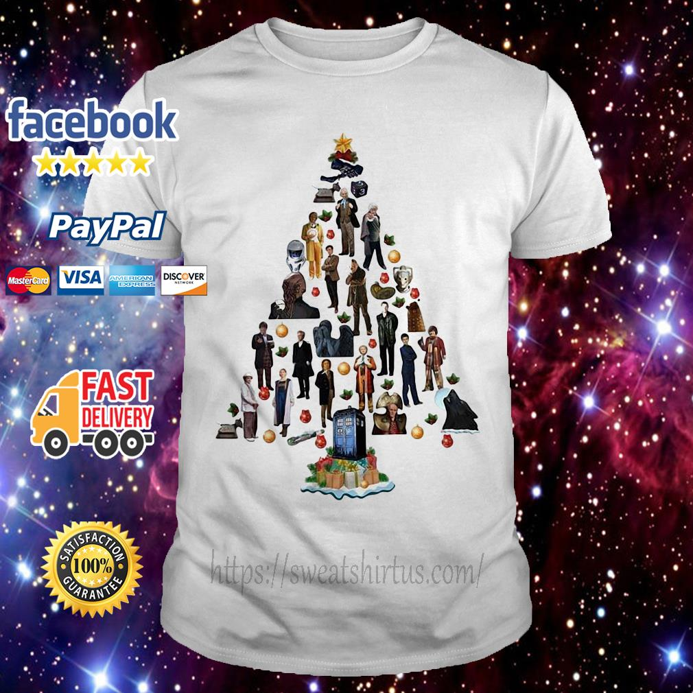 Doctor who Christmas tree guys shirt
