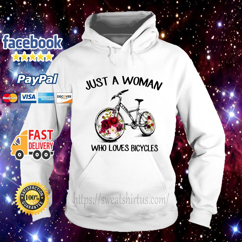 Floral just a woman who loves bicycles Hoodie
