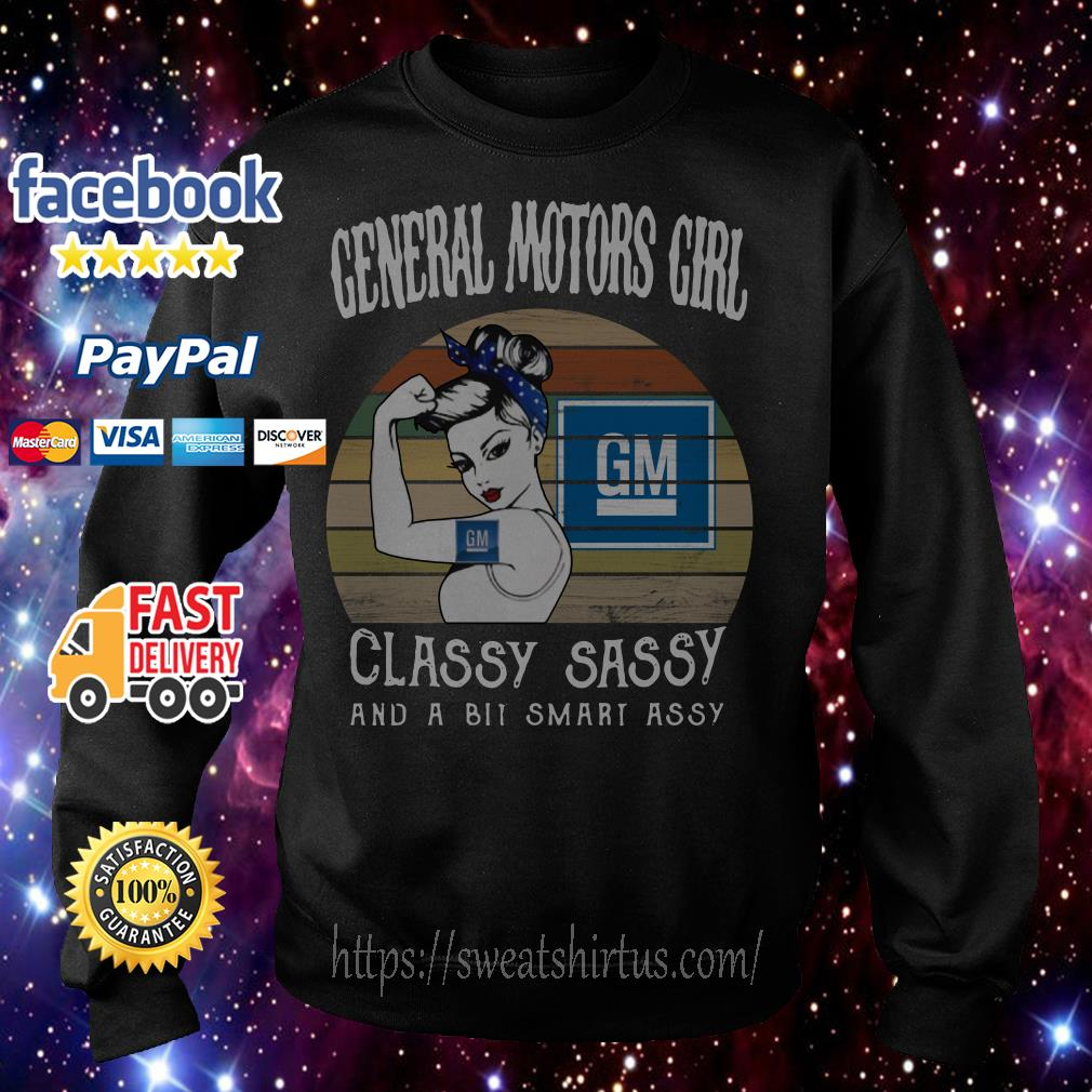 General Motors girl classy sassy and a bit smart assy vintage Sweater