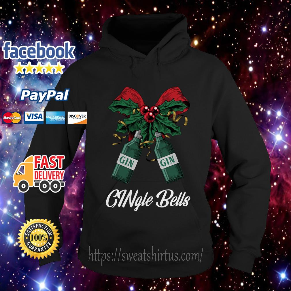 Gin Gingle Bells Christmas ugly sweat Hoodie