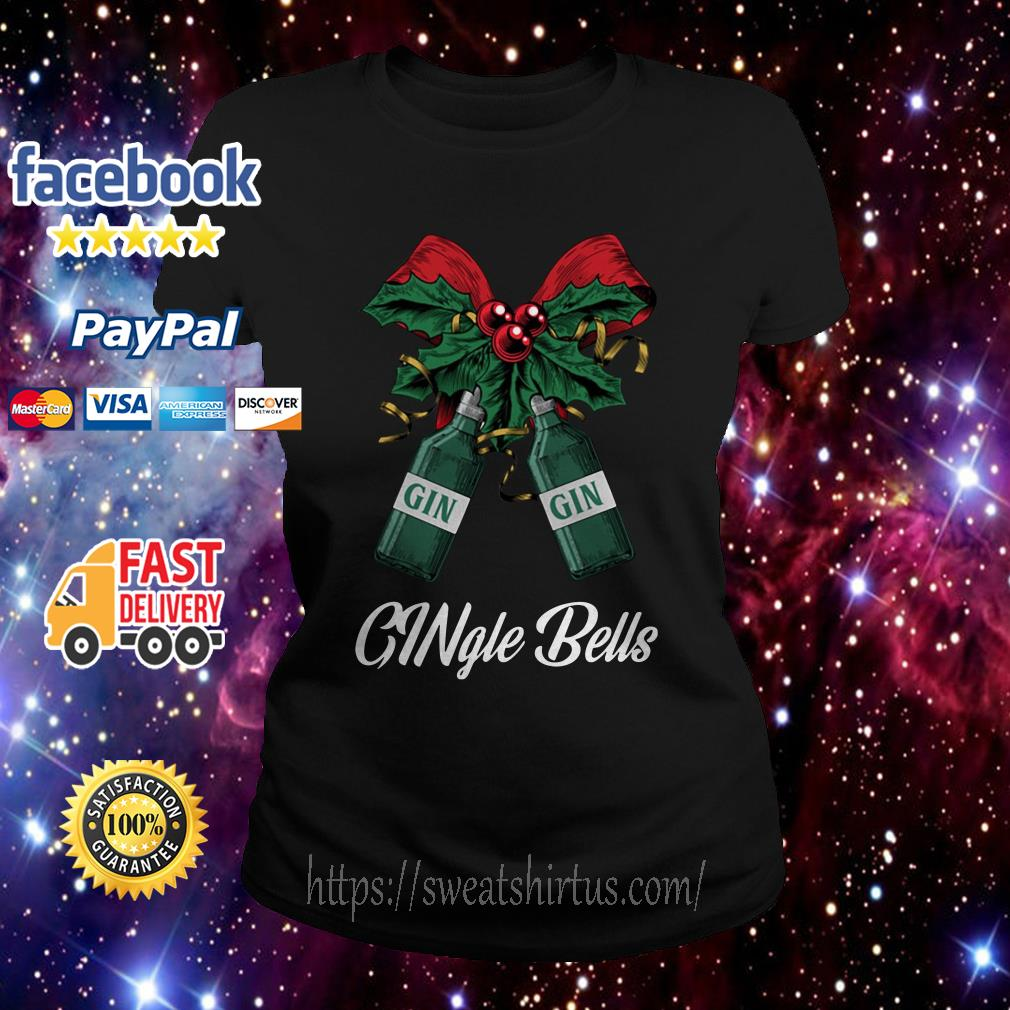 Gin Gingle Bells Christmas ugly sweat Ladies Tee