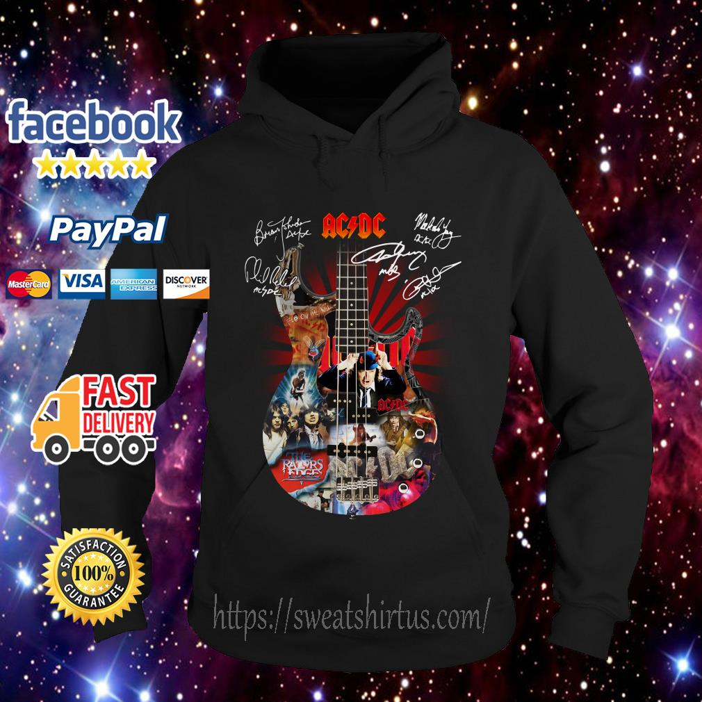 Guitar AC/DC Highway to Hell signatures Hoodie
