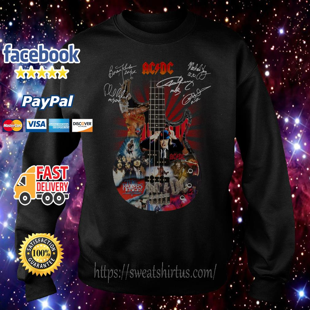 Guitar AC/DC Highway to Hell signatures Sweater