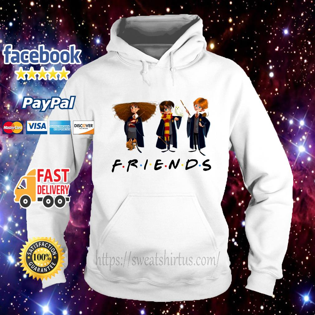 Hermione Granger Harry Potter and Ron Weasley Chibi Friends TV Show Hoodie