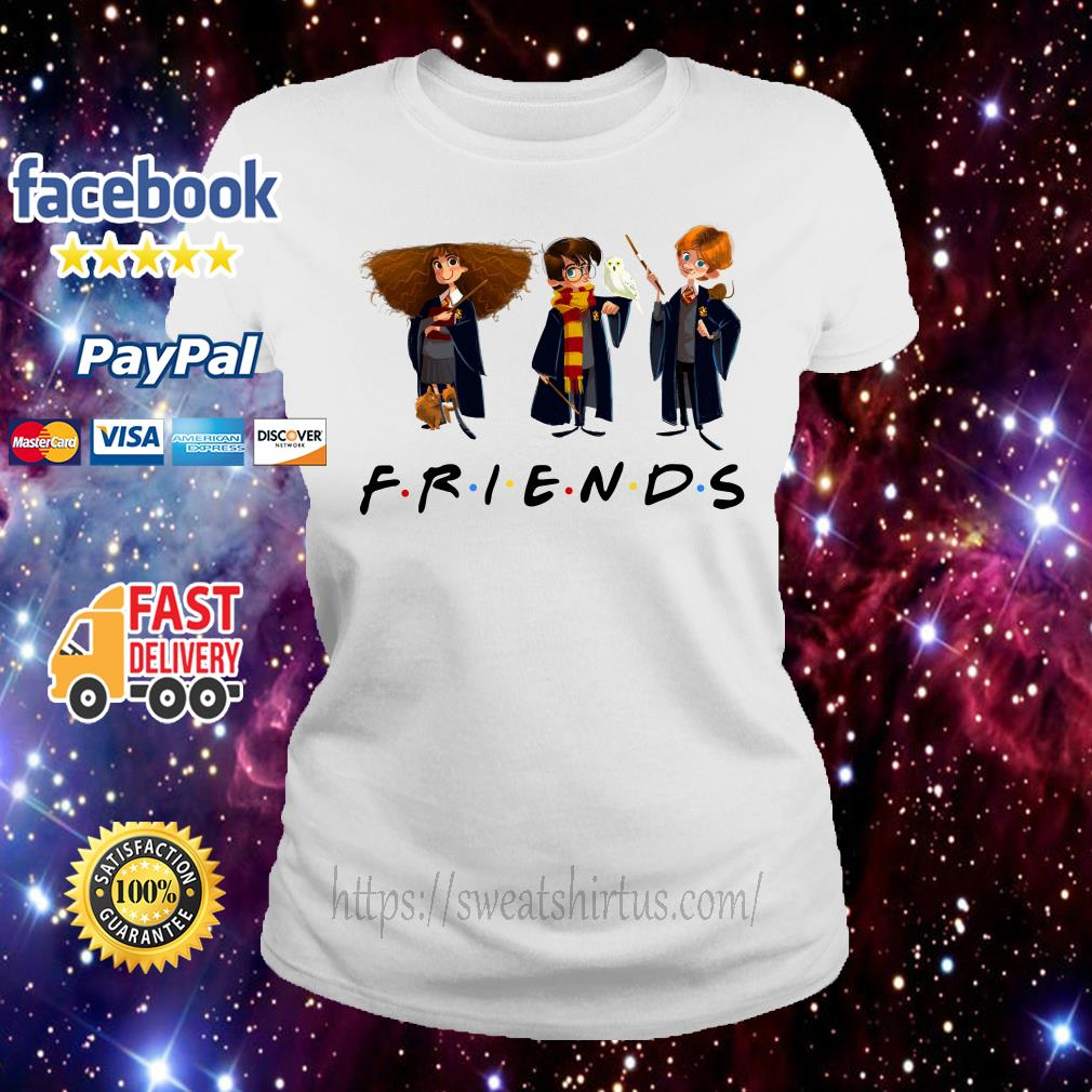 Hermione Granger Harry Potter and Ron Weasley Chibi Friends TV Show Ladies Tee