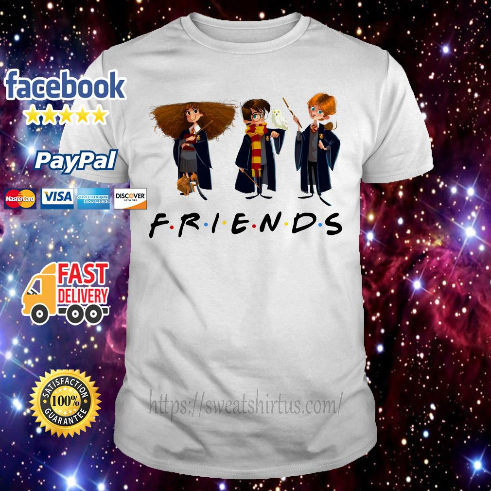 Hermione Granger Harry Potter and Ron Weasley Chibi Friends TV Show shirt