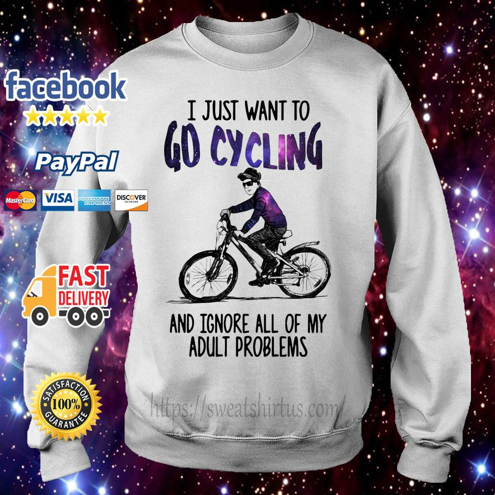 I just want to go cycling and ignore all of my adult problems Sweater