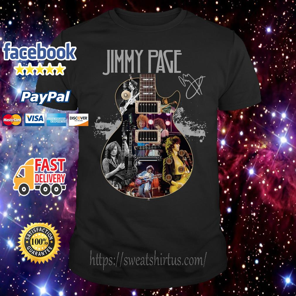 Jimmy Page Guitar signature shirt