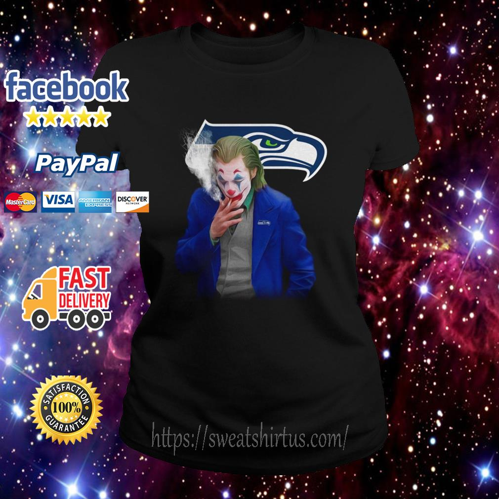 Joker Joaquin Phoenix Seattle Seahawks  Ladies Tee