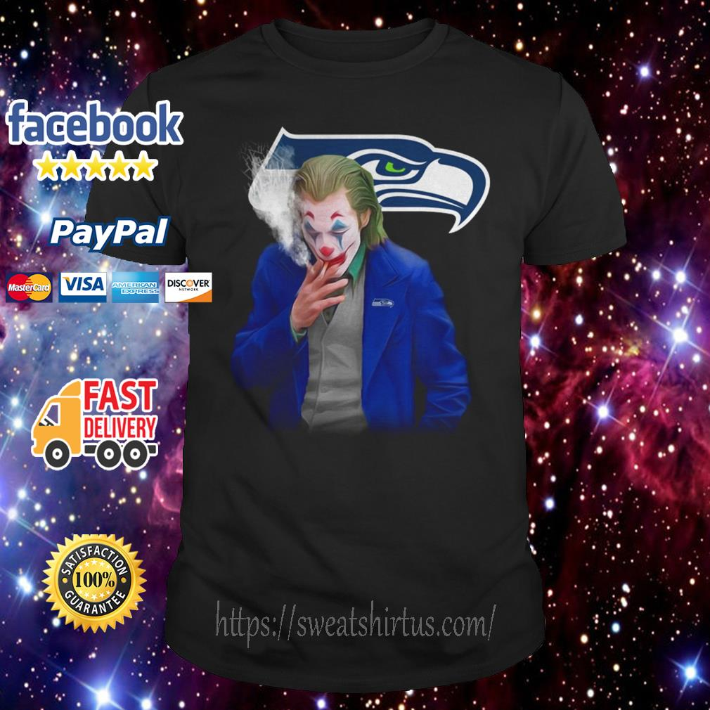 Joker Joaquin Phoenix Seattle Seahawks shirt