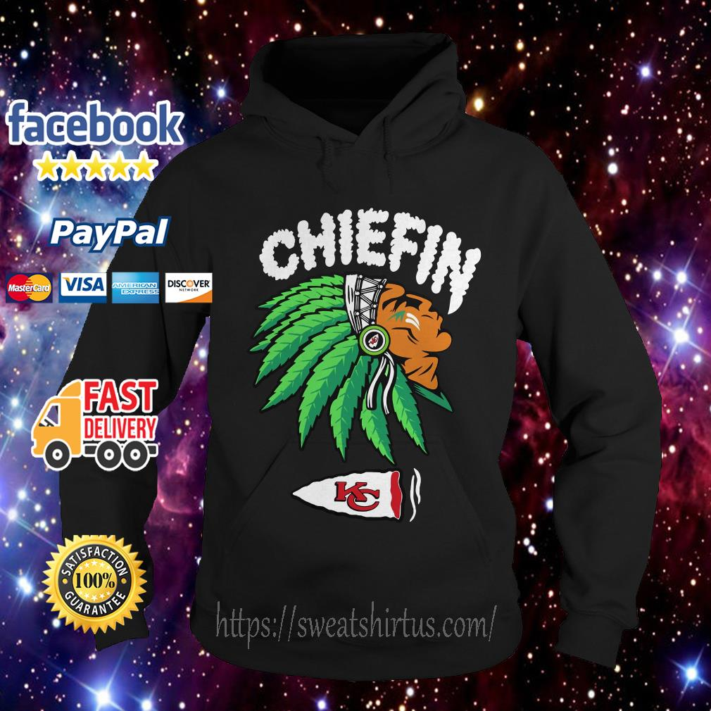 Kansas City Chiefs Chiefin weed smoking Indian Hoodie