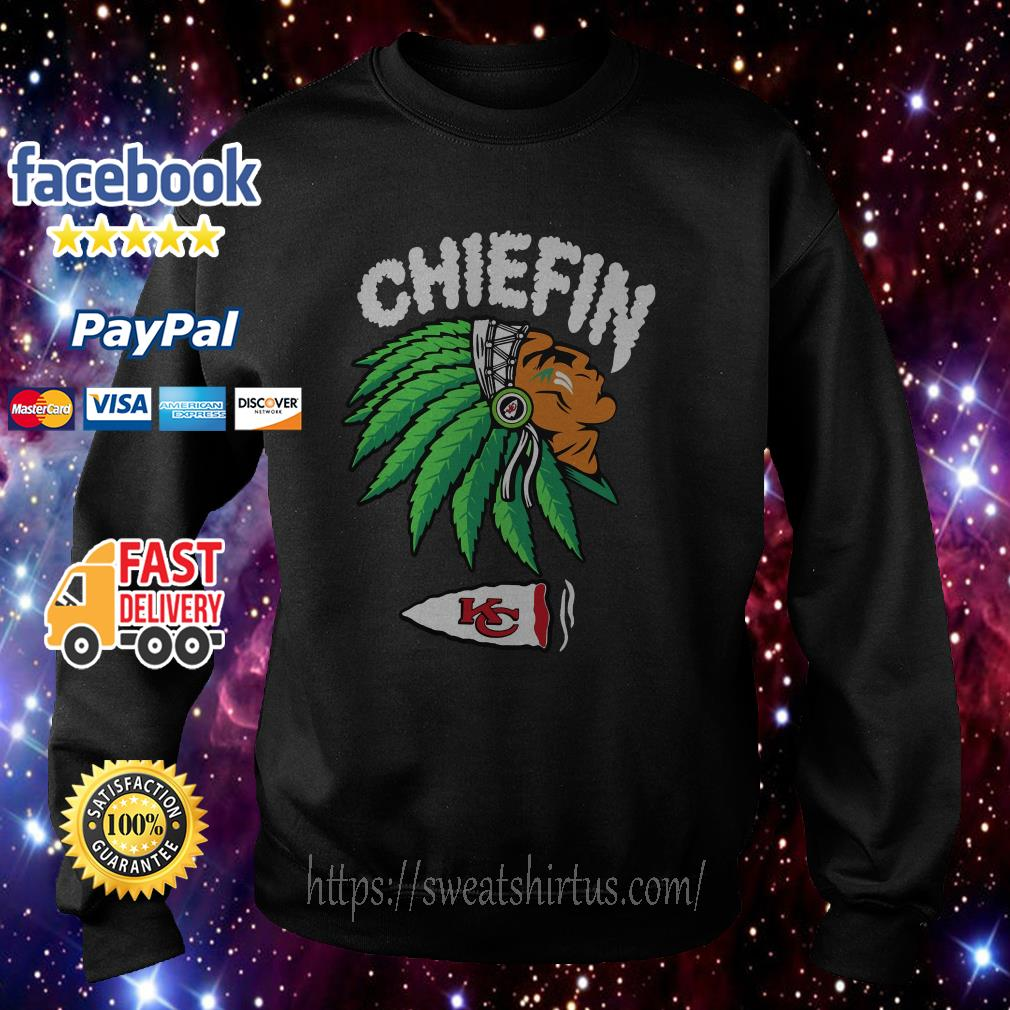 Kansas City Chiefs Chiefin weed smoking Indian Sweater
