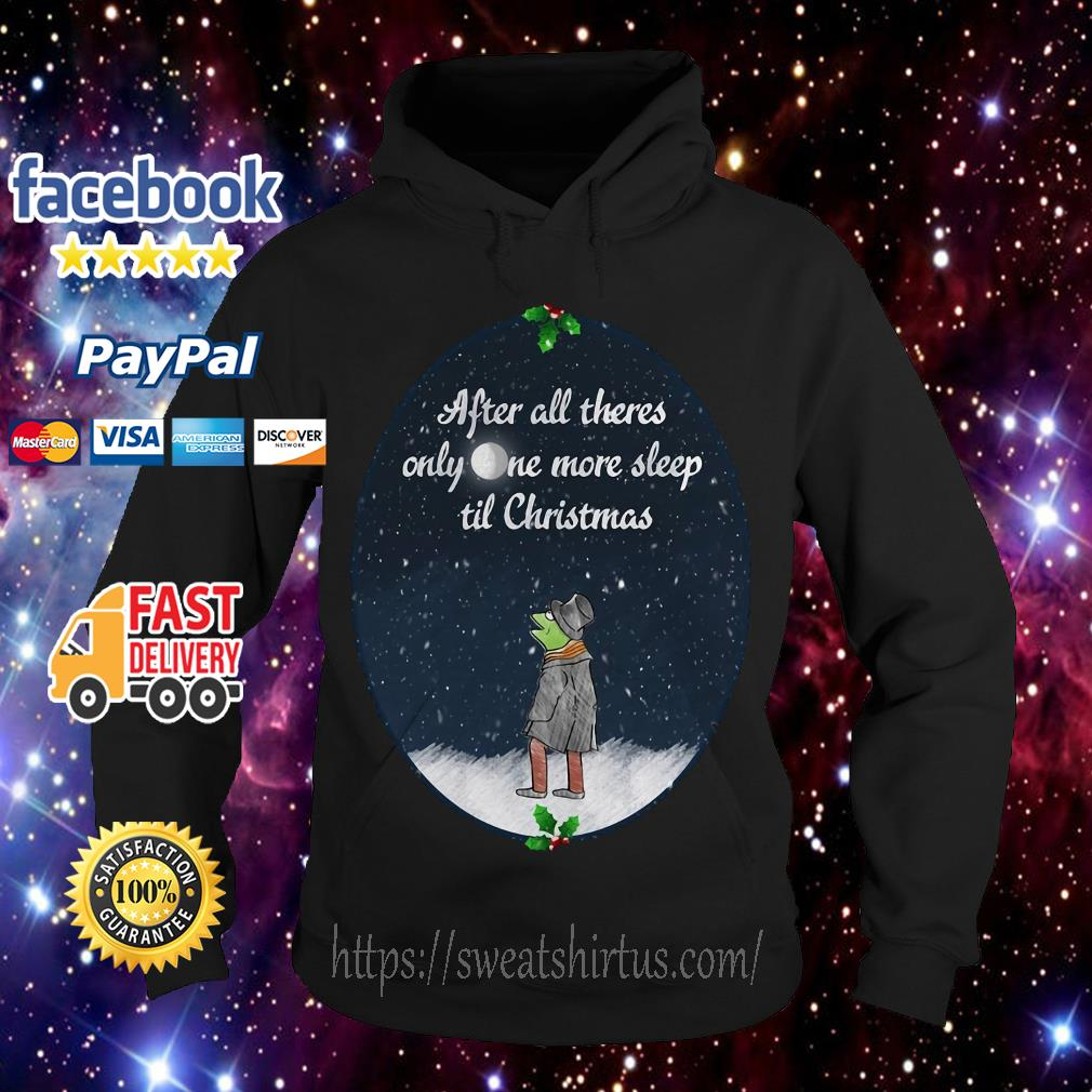 Kermit the Frog after all there's only one more sleep til Christmas Hoodie