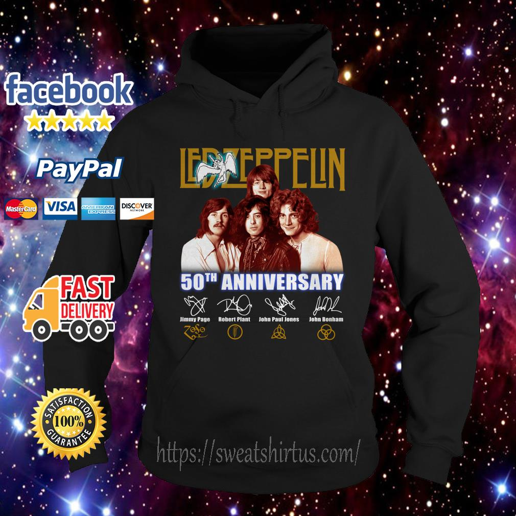 Led Zeppelin 50th Anniversary signature Hoodie
