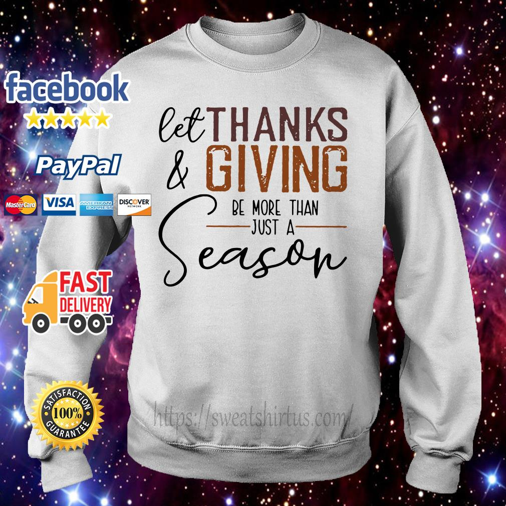 Let thank and giving be more than just a season sweater
