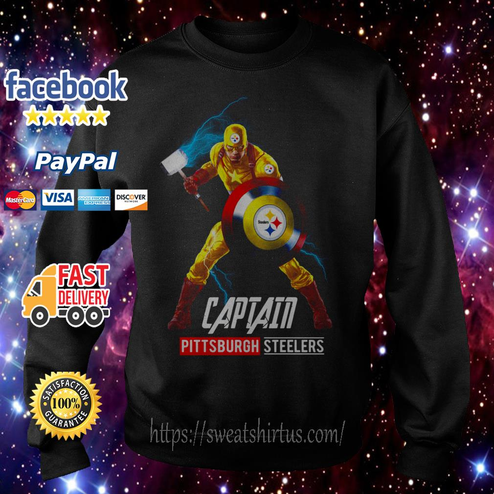 Marvel Avengers Captain American Pittsburgh Steelers Sweater
