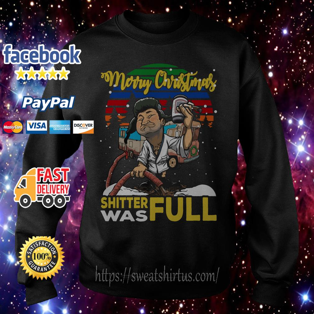 Merry Christmas shitter was full vintage shirt, sweater