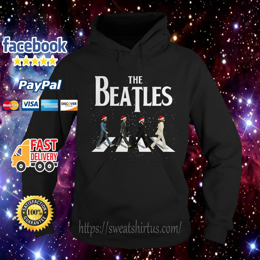 Merry Christmas The Beatles Abbey Road ugly sweat Hoodie