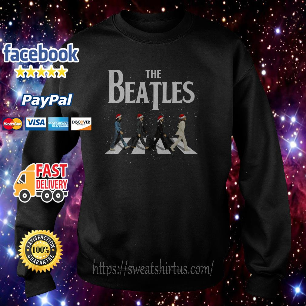 Merry Christmas The Beatles Abbey Road ugly sweat shirt