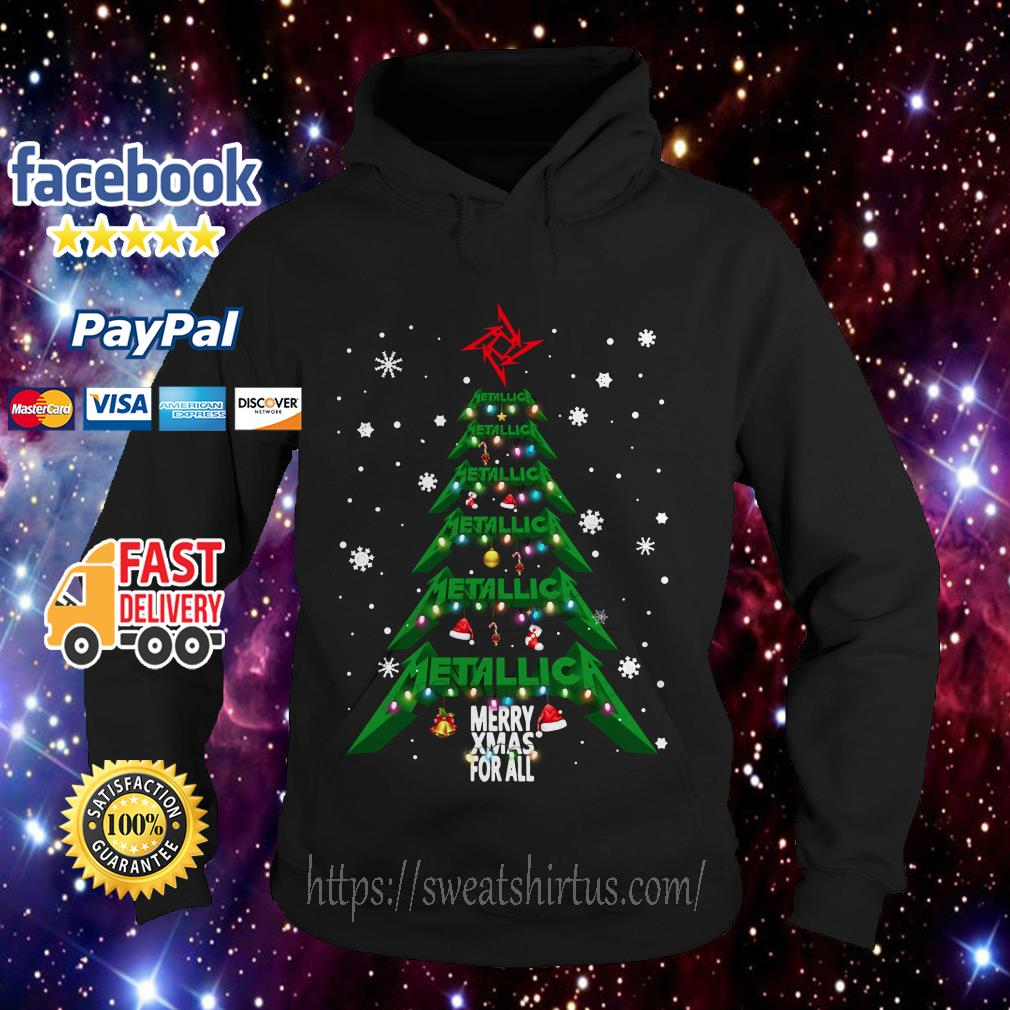 Metallica Merry Xmas For All Christmas Tree Hoodie