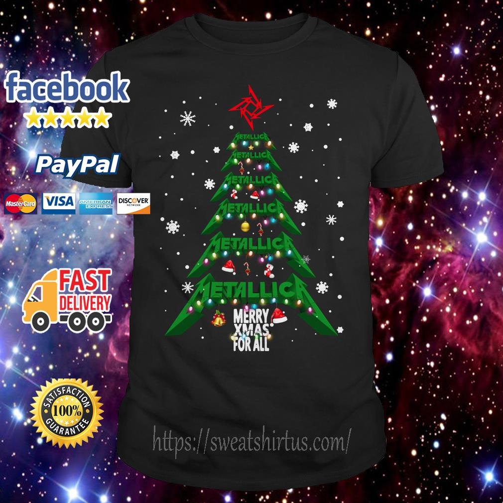 Metallica Merry Xmas For All Christmas Tree guys shirt