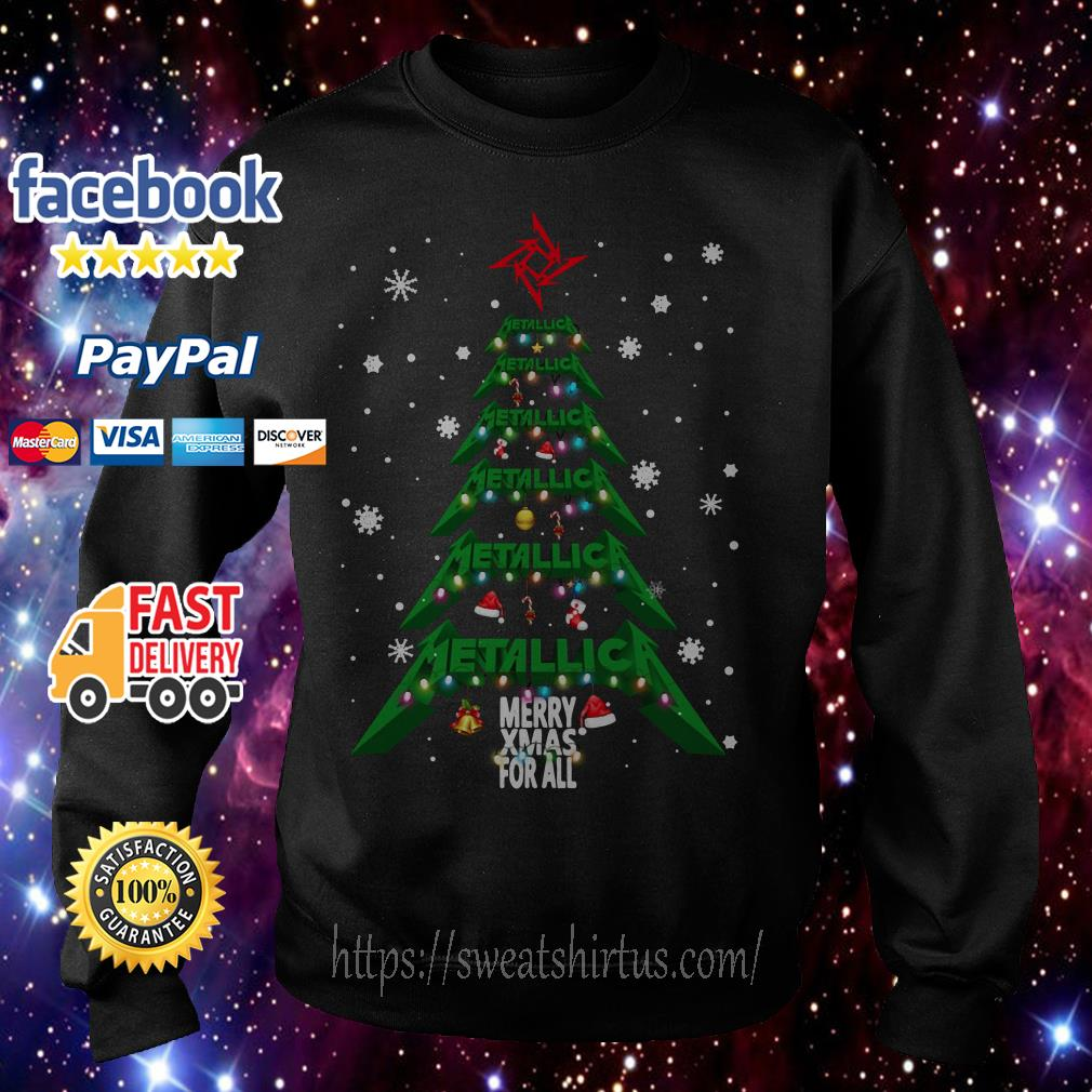 Metallica Merry Xmas For All Christmas Tree Shirt