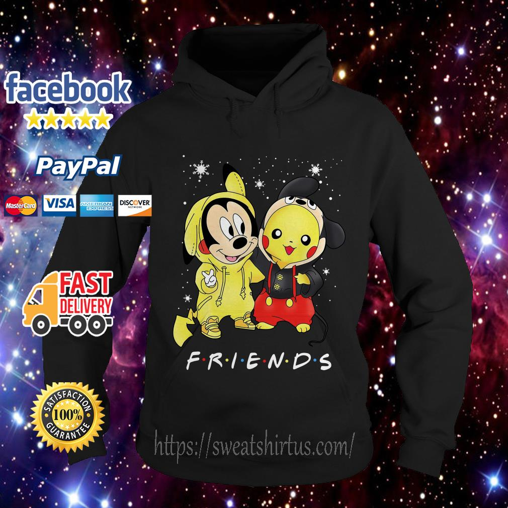 Mickey Mouse and Pikachu Friends TV Show Christmas Hoodie