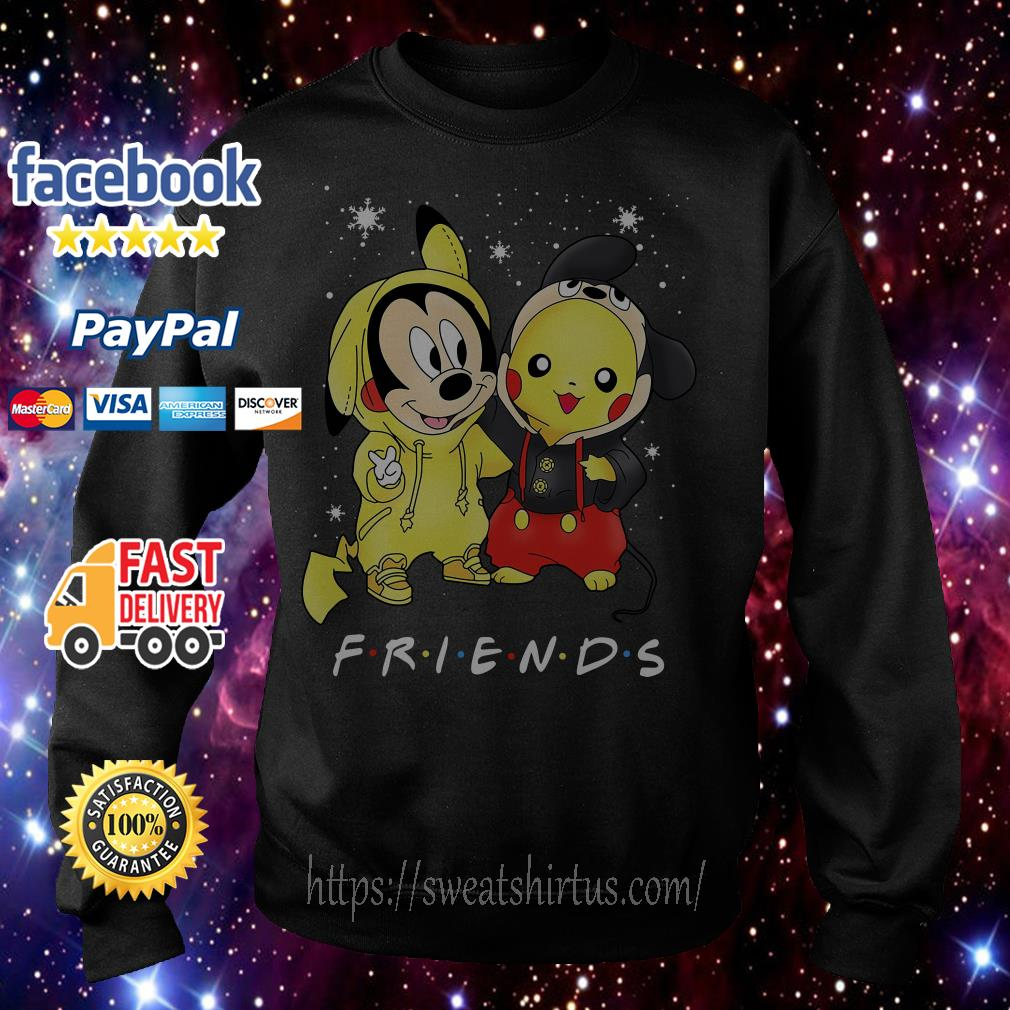 Mickey Mouse and Pikachu Friends TV Show Christmas shirt, sweater