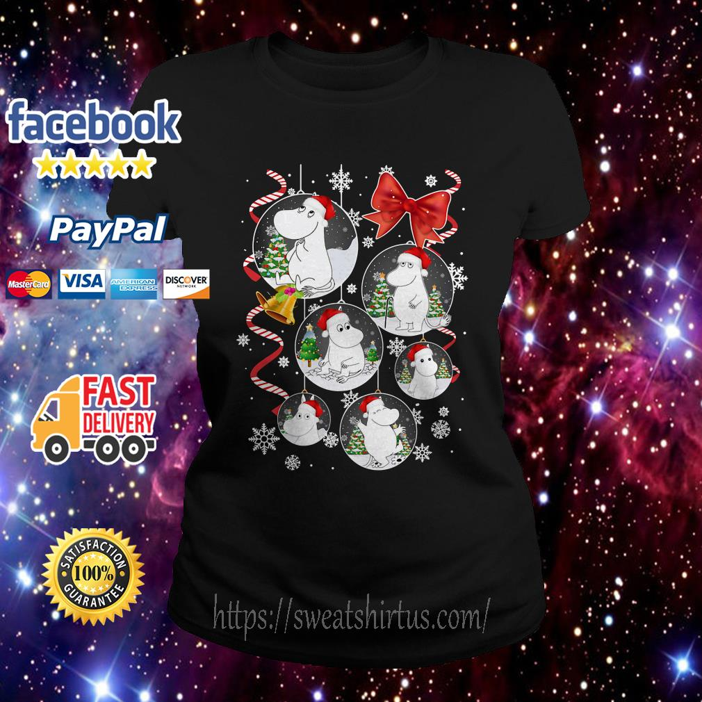 Moomins Santa cartoon Christmas Ladies Tee