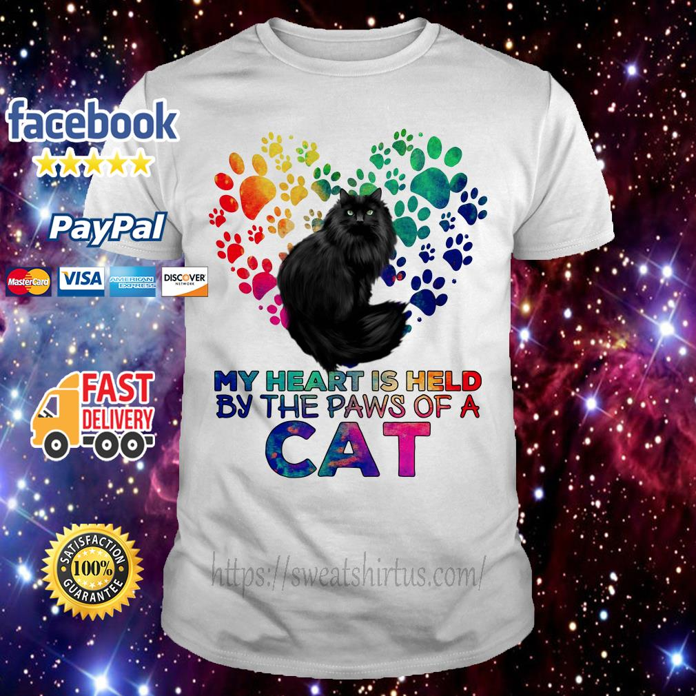 My heart is held by the paws of a cat LGBT shirt